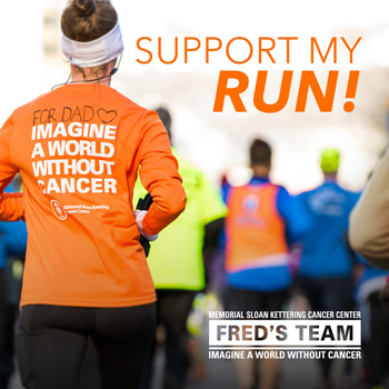 Support My Run! - Shareable social media image